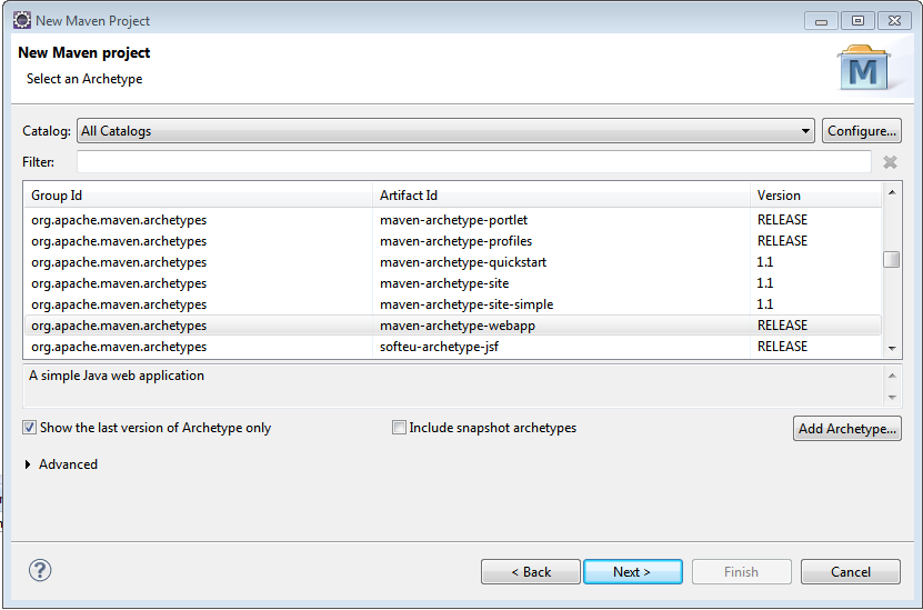 Create a Maven Web Project with Eclipse - WebSystique