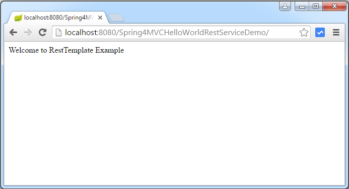 Spring 4 MVC REST Service Example using @RestController