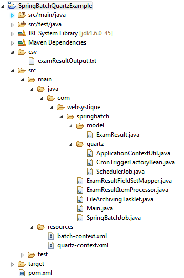 Spring Batch & Quartz Scheduler Example (Tasklet usage