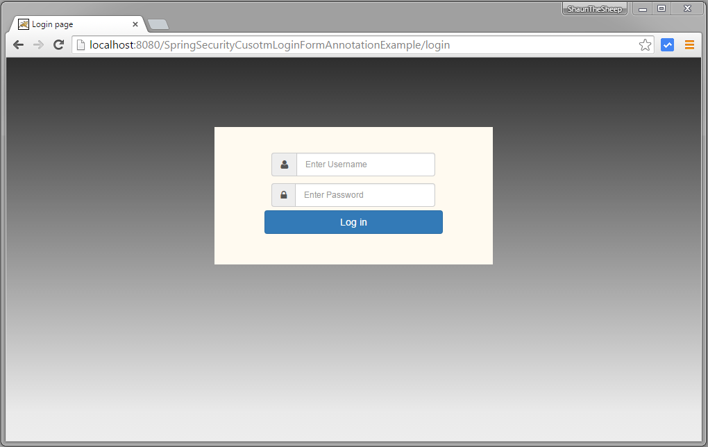 Spring Security 4 Custom Login Form Annotation+XML Example - WebSystique