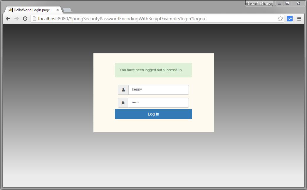 Spring Security 4 Hibernate Password Encoder Bcrypt Example