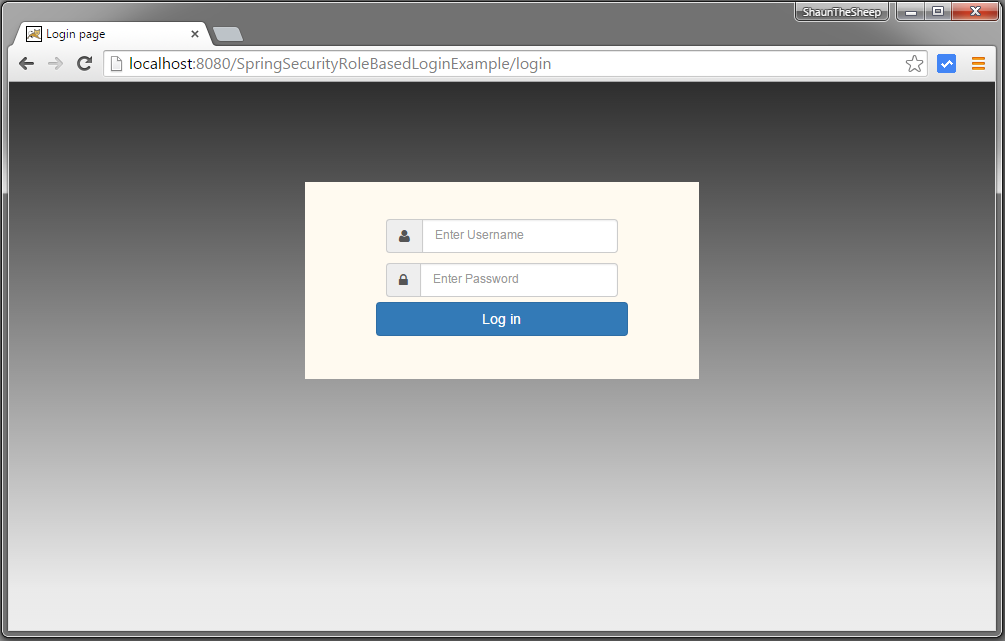 Spring Security 4 Role Based Login Example - WebSystique