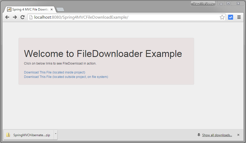 Spring Mvc 4 File Download Example Websystique