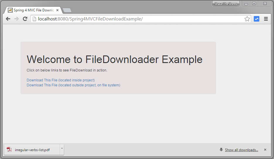 Spring MVC 4 File Download Example - WebSystique