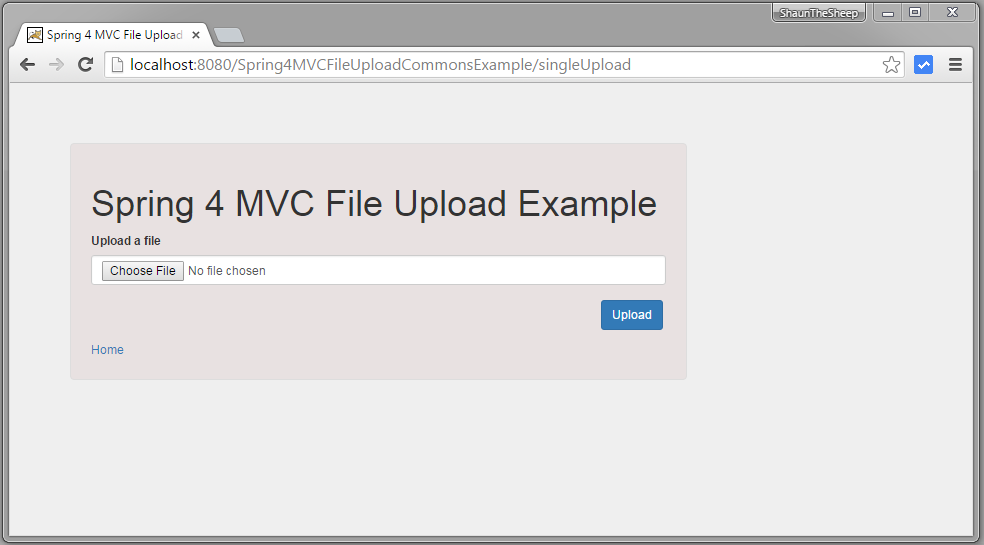 spring mvc 4 file upload example using commons fileupload - websystique
