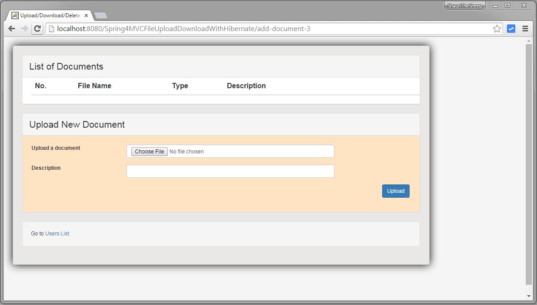 Spring MVC 4 FileUpload-Download Hibernate+MySQL Example - WebSystique