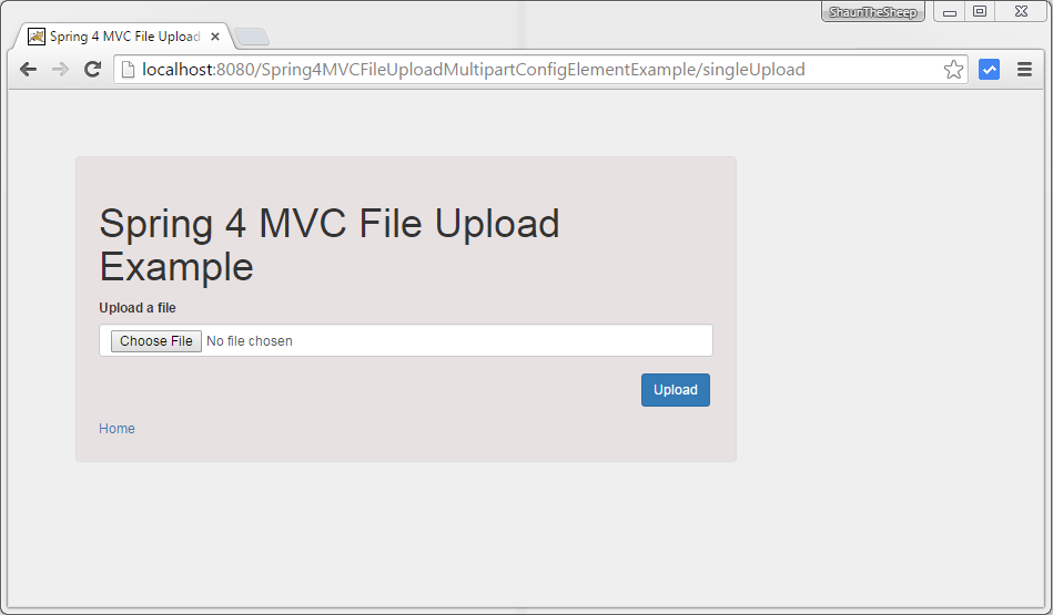 Spring MVC 4 File Upload Example using Servlet 3