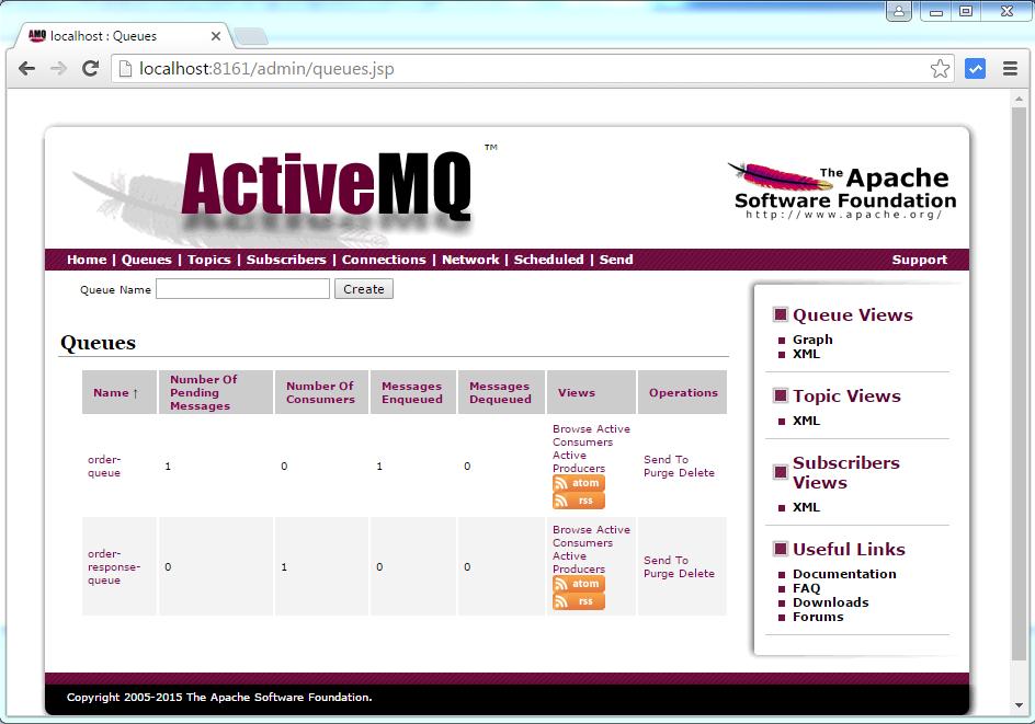 Spring  JMS ActiveMQ Queue Example