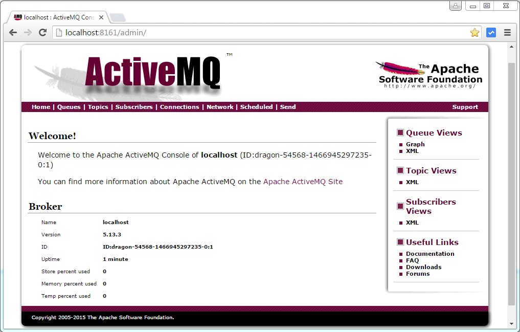 Spring 4+JMS+ActiveMQ example with @JmsListener & @EnableJms
